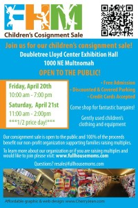 It's Time for the Spring Consignment Sale!